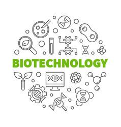 Biotechnolgy round in thin vector