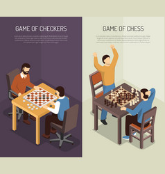 board games vertical banner set vector image