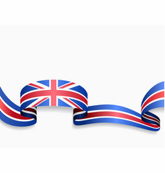 British flag wavy abstract background vector