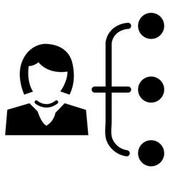business hierarchy icon vector image