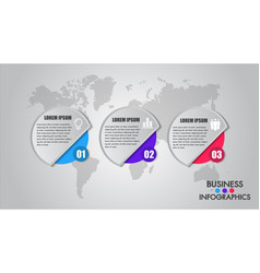 business infographics process concept timeline vector image