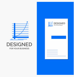 business logo for arrow chart curve experience vector image
