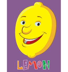 cartoon lemon vector image