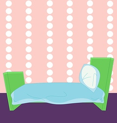 Children cartoon bed in vector