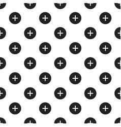 circle plus pattern seamless vector image