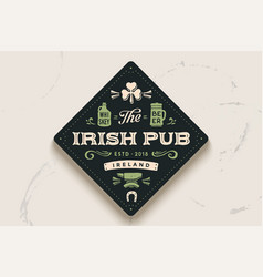 Coaster with hand drawn lettering beer vector