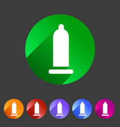 Condom preservative icon flat web sign symbol logo vector