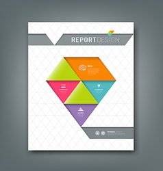 Cover report colorful origami paper triangle vector image