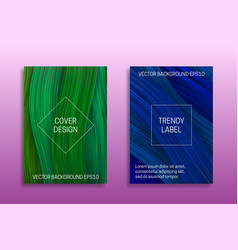 Cover templates with volumetric colored curls vector