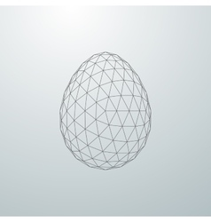 Easter egg 3D shape vector