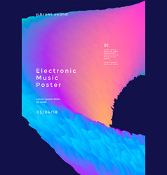 Electronic music poster vector