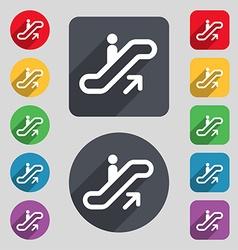 Elevator Escalator Staircase icon sign A set of 12 vector