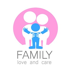 family love care logo vector image vector image