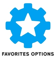 Favorites Options Flat Icon with Caption vector