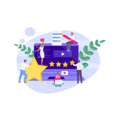 Feedback and review concept vector