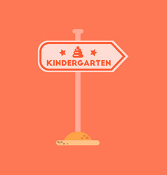 flat icon on background sign kindergarten vector image