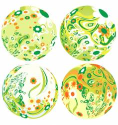 floral globes vector image