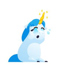 funny unicorn isolated on white background vector image