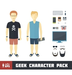 Geek Character Set vector