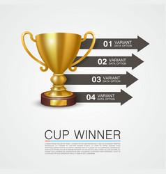 graphic information winner cup art vector image