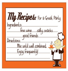 Great Party Recipe vector