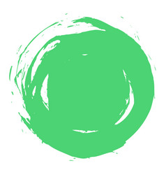 Green brush stroke circle shape vector