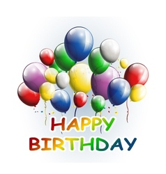 Happy birthday with balloons background vector