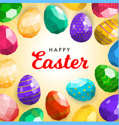 happy easter greeting card or banner template vector image