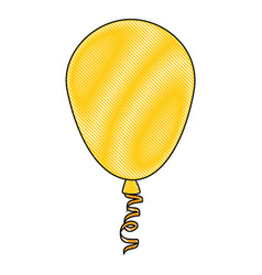 Isolated cute party balloon vector