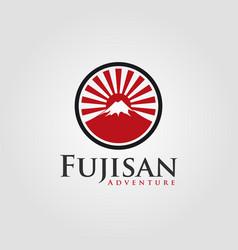 japanese fujisan logo template vector image