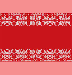 Knitted floral geometric ornament design with vector
