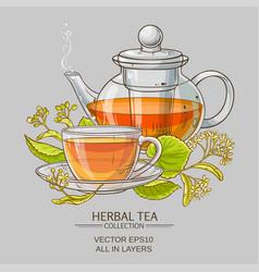 Linden tea vector