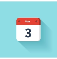 May 3 Isometric Calendar Icon With Shadow vector