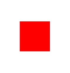 Mockup of blank square red icon template vector