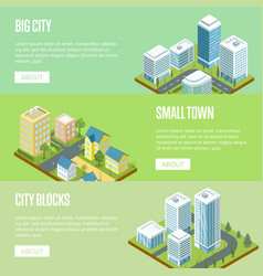 modern big city architecture banners set vector image