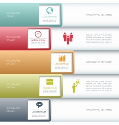 Modern business infographics options banner vector