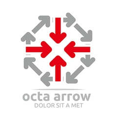 octa arrow design icon symbol star vector image