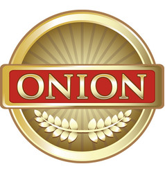 Onion gold label vector