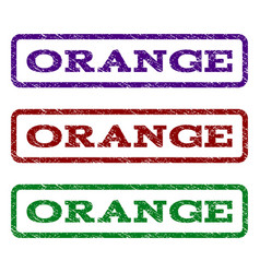 orange watermark stamp vector image