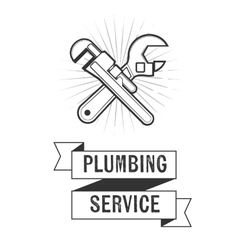 Plumbing service insignia vector