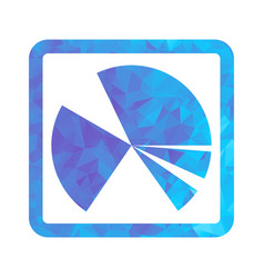 polygon blue icon chart vector image