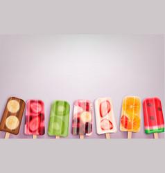 Popsicle ice cream background vector