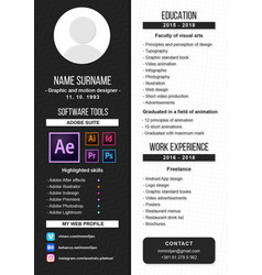 Portfolio design vector