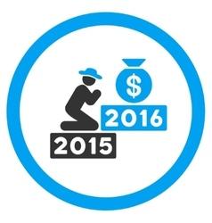 Pray For Money 2016 Icon vector image