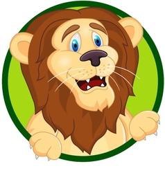 Printsmiling lion cartoon vector image