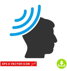 Radio Reception Mind Eps Icon vector