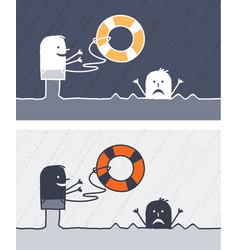 Rescue colored cartoon vector