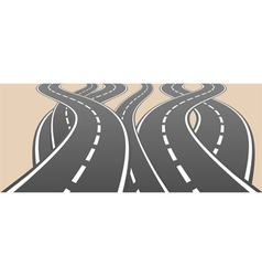 Roads overcrossing vector