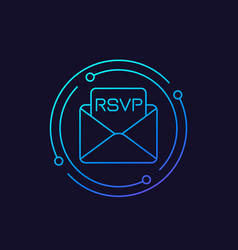 Rsvp icon linear style vector