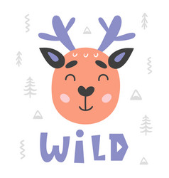 scandinavian style childish poster vector image